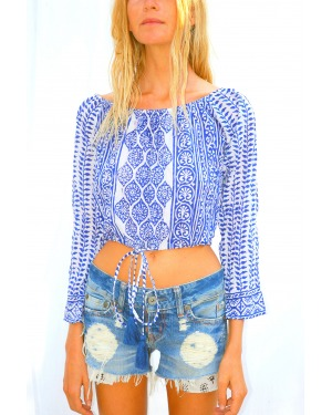 Shoreline Tassel Crop Top
