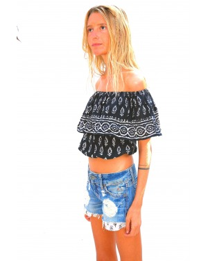 Luna Frill Crop Top