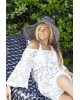 Lucy Off The Shoulder Lace Kaftan