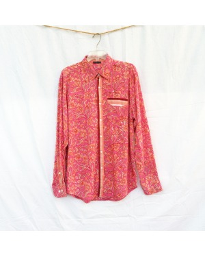 The Classic Cotton Floral Block Printed Long Sleeve Shirt