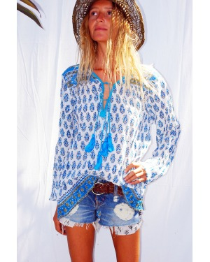 Shipwrecked  Blouse Floral Block