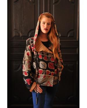 Brooklyn Cotton Gudri Kanta Hooded Jacket