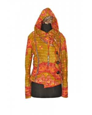 Brooklyn Cotton Gudri Kanta Hooded Jacket