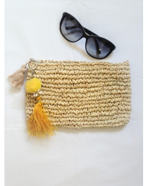 Bali Seagrass Clutch Natural