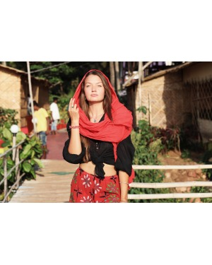Everyday Cotton Scarf Red