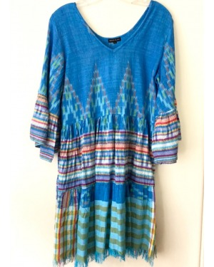 Island Style Ikat Mini Dress