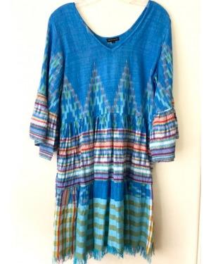 Island Style Ikat Mini Dress