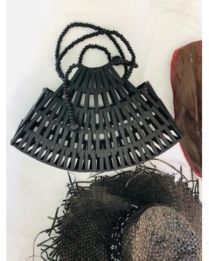 Black Bamboo Bali Bag