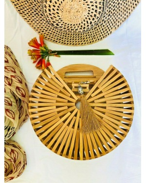 The Gili Bamboo Round Bag