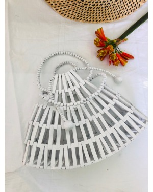 White Bamboo Bali Bag