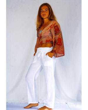 Classic Cotton Linen 4 Pocket Pant