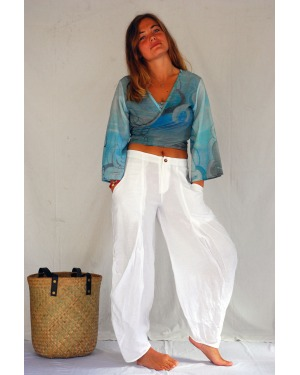 Ocean and Sea Cotton Linen Lounger Pant