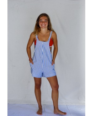 Lazy Days Striped Romper